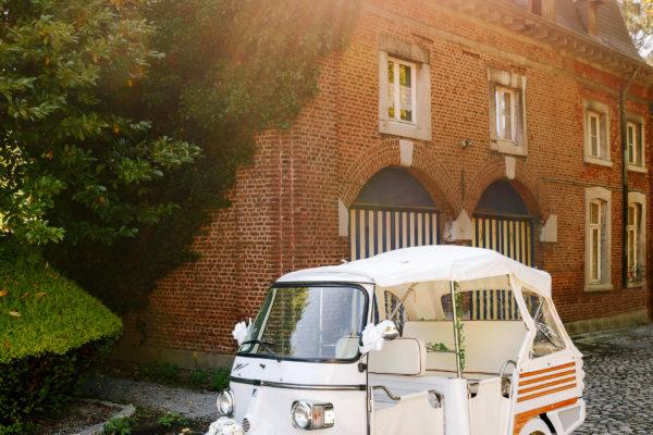 Elégance location Piaggio Ape Calessino voiture de mariage